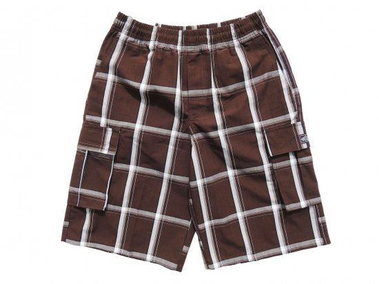 <img class='new_mark_img1' src='https://img.shop-pro.jp/img/new/icons15.gif' style='border:none;display:inline;margin:0px;padding:0px;width:auto;' />SHAKA WEAR  PLAID  SHORT PANTS  シャカ チェックショーツ #BROWN