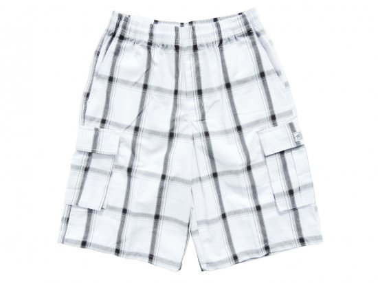 <img class='new_mark_img1' src='https://img.shop-pro.jp/img/new/icons15.gif' style='border:none;display:inline;margin:0px;padding:0px;width:auto;' />SHAKA WEAR  PLAID  SHORT PANTS  シャカ チェックショーツ #WHITE