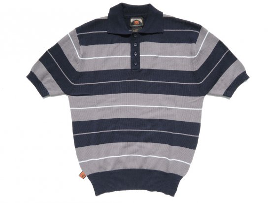 FB COUNTY  Charlie Brown Shirt ニットポロシャツ TRILOGY  NAVY x GREY x WHITE