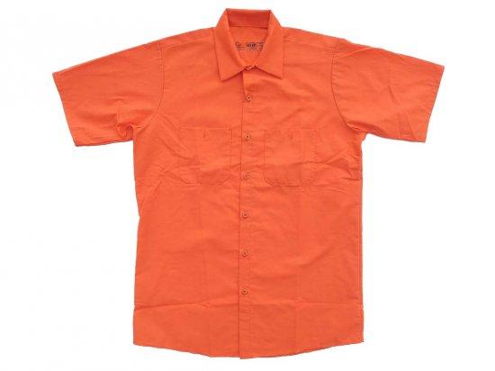 RED KAP SHORT SLEEVE INDUSTRIAL WORK SHIRT レッドキャップ 半袖ワークシャツ SP24 ORANGE