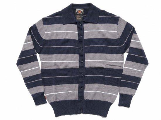 FB COUNTY  Long Sleeve Charlie Brown Shirt  Navy/Grey/White
