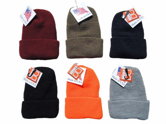 <img class='new_mark_img1' src='https://img.shop-pro.jp/img/new/icons15.gif' style='border:none;display:inline;margin:0px;padding:0px;width:auto;' />BRONER Value Knit Cuff Cap  ニットキャップ Made in U.S.A