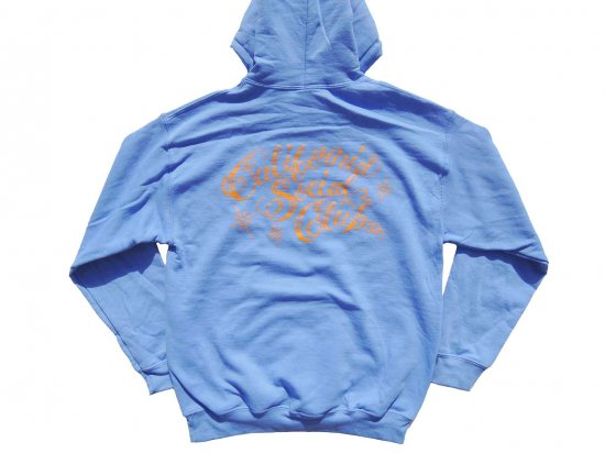 <img class='new_mark_img1' src='https://img.shop-pro.jp/img/new/icons15.gif' style='border:none;display:inline;margin:0px;padding:0px;width:auto;' />California Social Club SHOP VAN PULLOVER HOODIE フーディー  C.BLUE