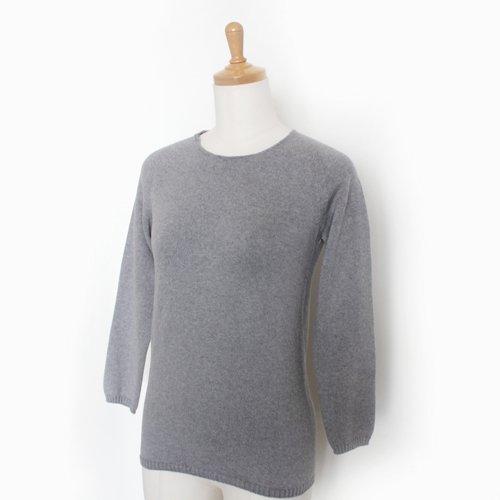 [WEB限定] 無縫製 八分袖インナーニット / オーガニックコットン