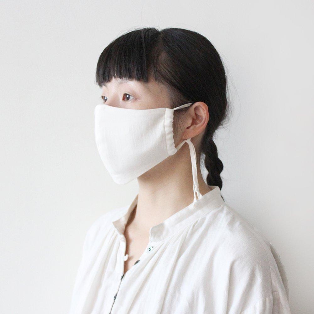 定番オーガニックコットンガーゼ 立体マスク(大人用)
