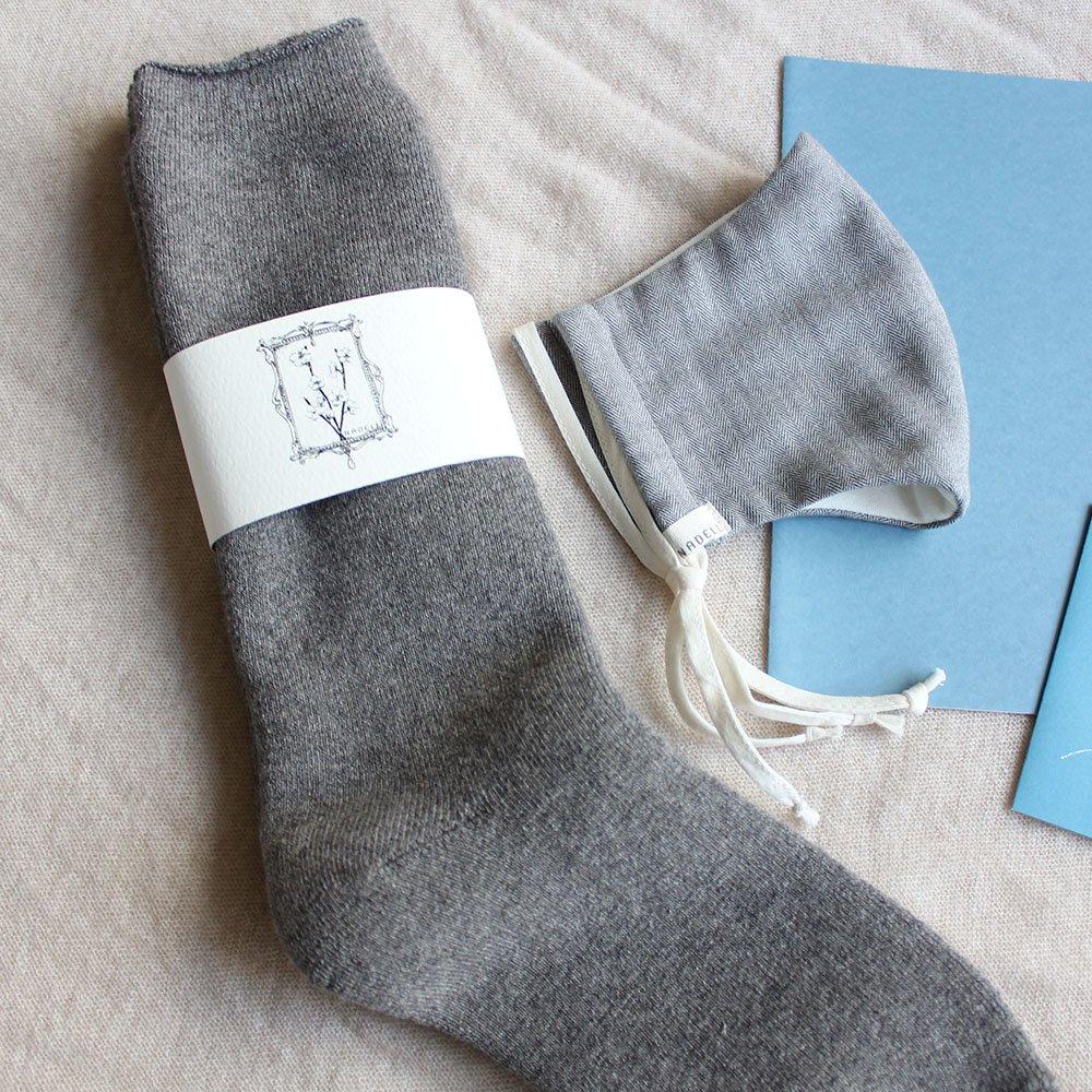 冬のオーガニックコットンギフトセット(冬マスク&パイルロング丈靴下)