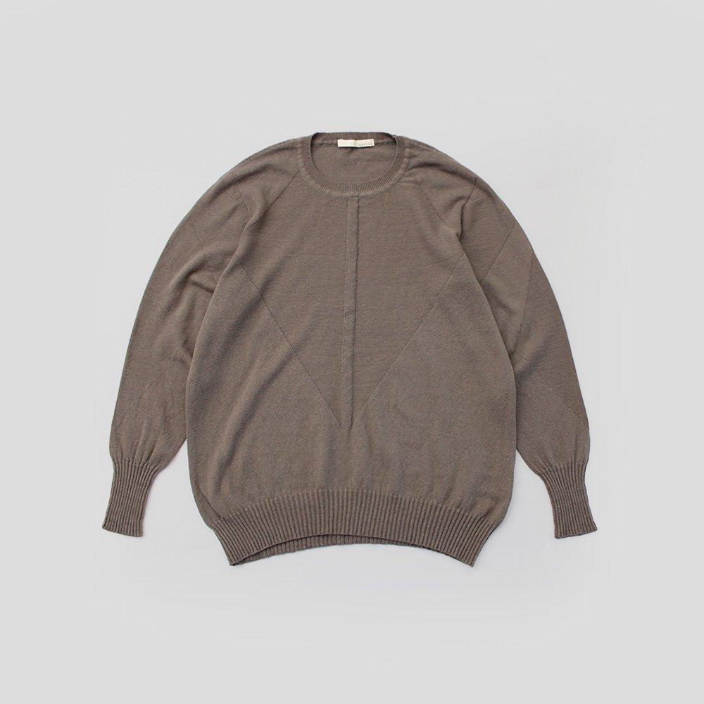 無縫製クルーネックセーター / オーガニックコットン