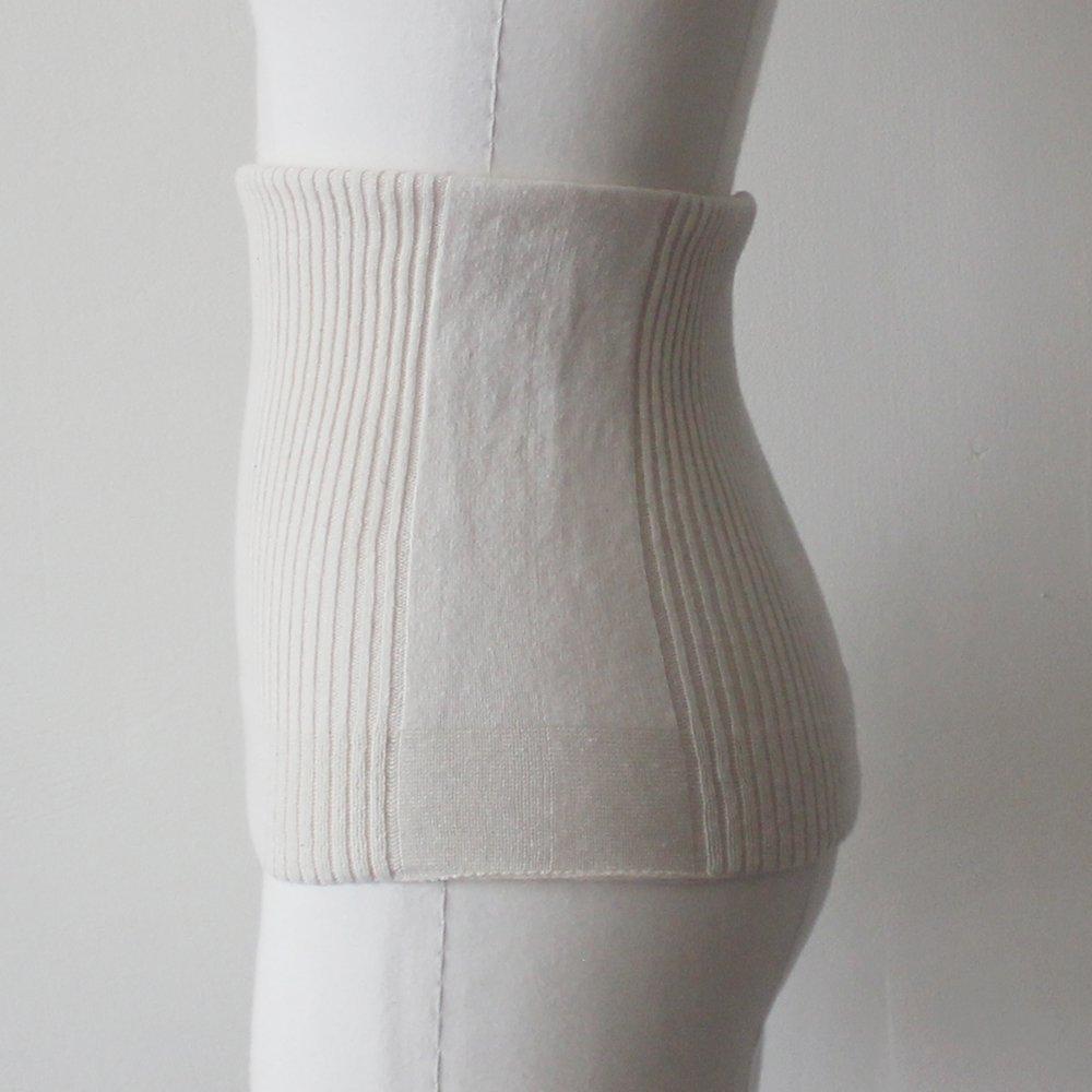 無縫製ロングニット腹巻き / オーガニックコットン
