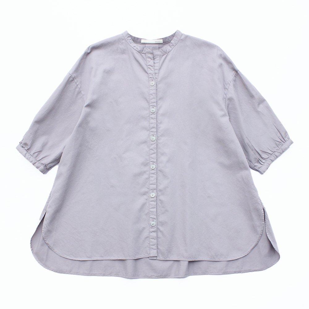 綿サテン パフスリーブブラウス / オーガニックコットン