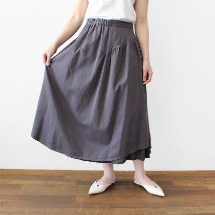 綿サテン 2枚組みリバーシブルスカート / オーガニックコットン