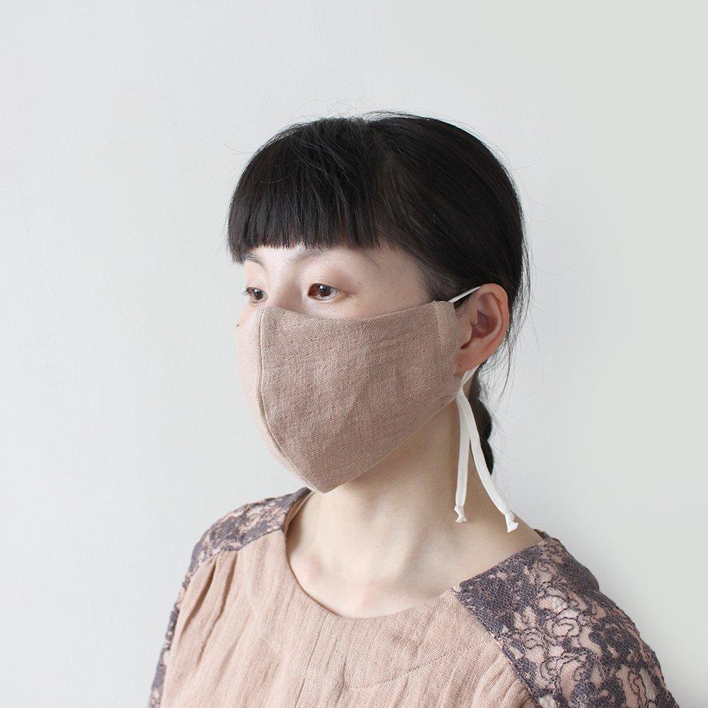 夏のWガーゼリネン 立体マスク / オーガニックコットン