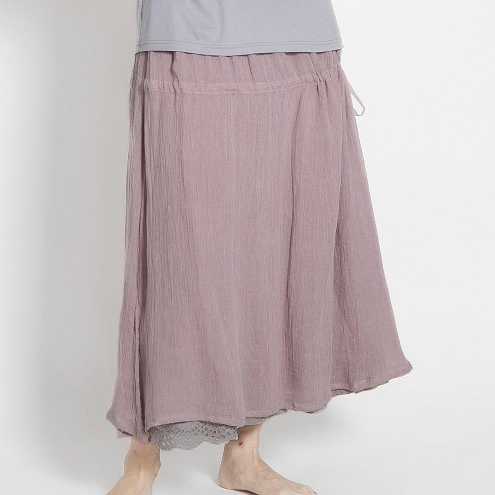 近江ちぢみリネン  2枚組ギャザースカート