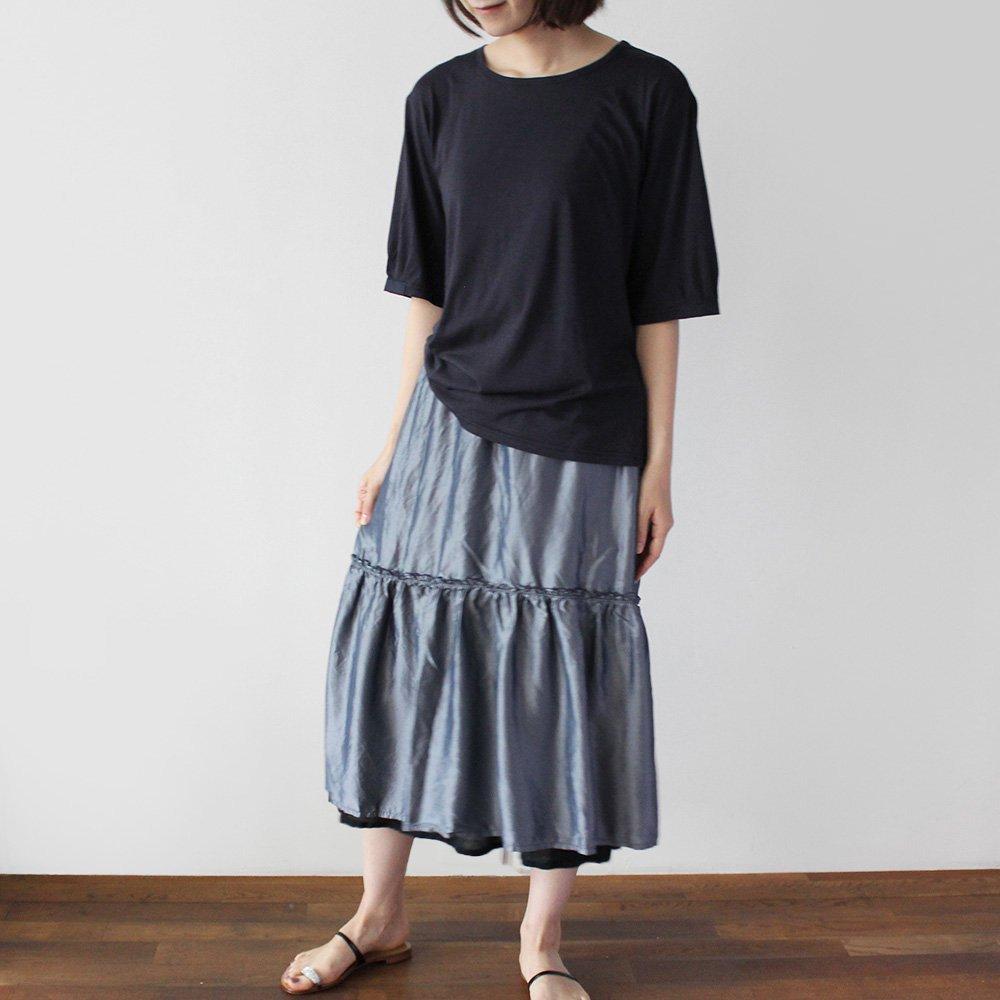 オーガニックコットンシルク デザインTシャツ