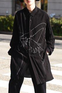BLACK Scandal Yohji Yamamoto  ヌードイラスト脇ボタンロングブラウス