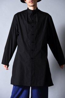Yohji Yamamoto POUR HOMME チャイナブロードロングシャツ
