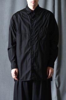 Yohji Yamamoto POUR HOMME 右胸のみ切り替え環縫いブロードシャツ