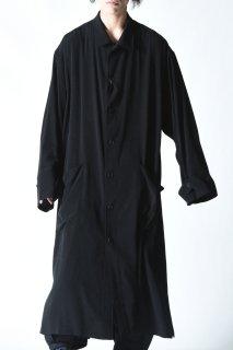 Yohji Yamamoto POUR HOMME トリアセテートタキシードクロス『Yohji Yamamoto』ロングシャツコート