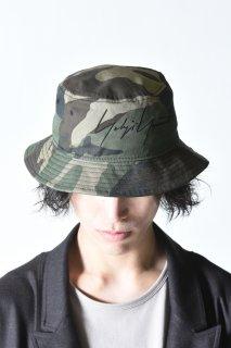 Yohji Yamamoto× NEW ERA camouflage BUCKET YY LOGO khaki