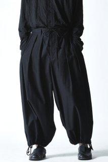 Yohji Yamamoto POUR HOMME  ウエスト紐14本タックパンツ