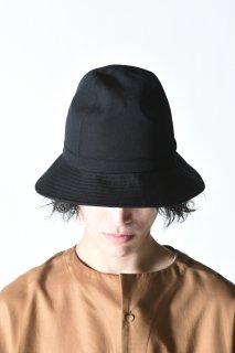 Yohji Yamamoto POUR HOMME シワギャバフェドラハット black