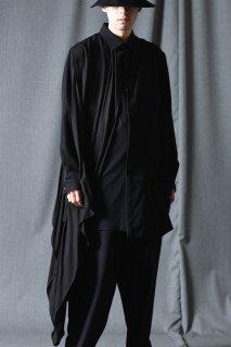 Yohji Yamamoto POUR HOMME  ウールギャバジンドレープシャツ