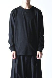 Yohji Yamamoto× NEW ERA LS COTTON TEE  Signature mini logo