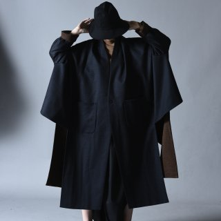 Ka na ta 2 sleeve coat navy × brown