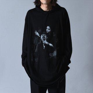 Yohji Yamamoto POUR HOMME 「THIS MAN」 プリントフードビッグプルオーバー