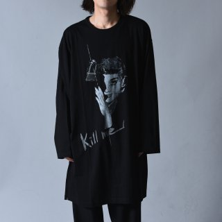 Yohji Yamamoto POUR HOMME  「KILL ME」 プリントロングスリーブBIG-T