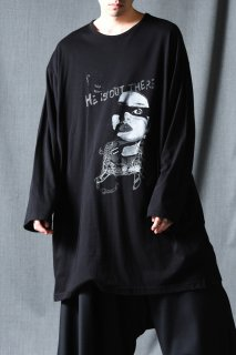 Yohji Yamamoto POUR HOMME  「HE IS OUT」 プリントロングスリーブBIG-T