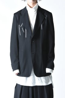 Yohji Yamamoto POUE HOMME エンブロイダリーウールギャバジンジャケット