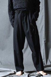 Yohji Yamamoto POUE HOMME エンブロイダリーウールギャバジンタックパンツ