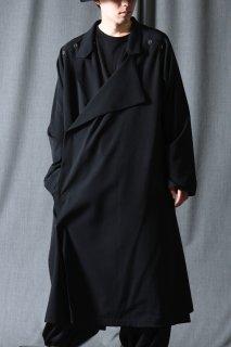 Yohji Yamamoto POUR HOMME ダブルパーツ釦留めシワギャバドレス