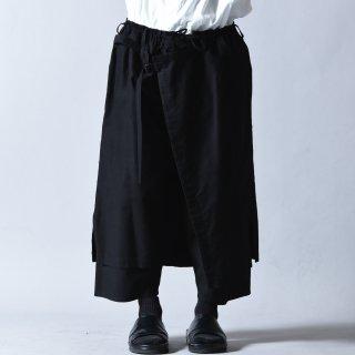 Yohji Yamamoto POUR HOMME コットンツイルクラシックラップパンツ