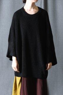 Ka na ta always summer knit 半袖 black