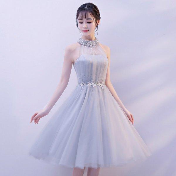 パーティードレス 結婚式 二次会 ワンピース 結婚式ドレス お呼ばれワンピース 20代 30代 40代 ひざ下丈 レース 大きいサイズ