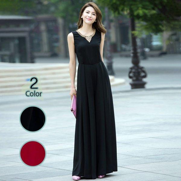 パーティードレス パンツ 結婚式 二次会 パンツドレス 結婚式ドレス お呼ばれドレス 20代 30代 40代 ロングドレス 黒 赤 大きいサイズ