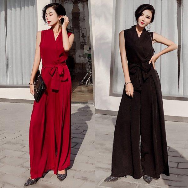 パーティードレス パンツ 結婚式 二次会 パンツドレス 結婚式ドレス お呼ばれドレス 20代 30代 40代 ロングドレス 赤 黒