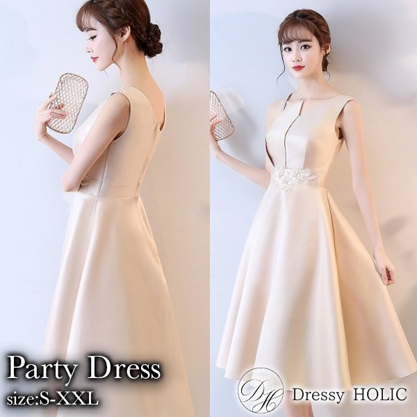 パーティードレス 結婚式 二次会 ワンピース 結婚式ドレス お呼ばれワンピース 20代 30代 40代 袖あり ミモレ丈 刺繍 大きいサイズ