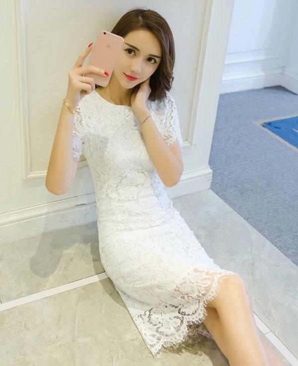 パーティードレス Iライン 刺繍 きれいめ 春夏 結婚式 二次会 お呼ばれ タイトドレス 大きいサイズ