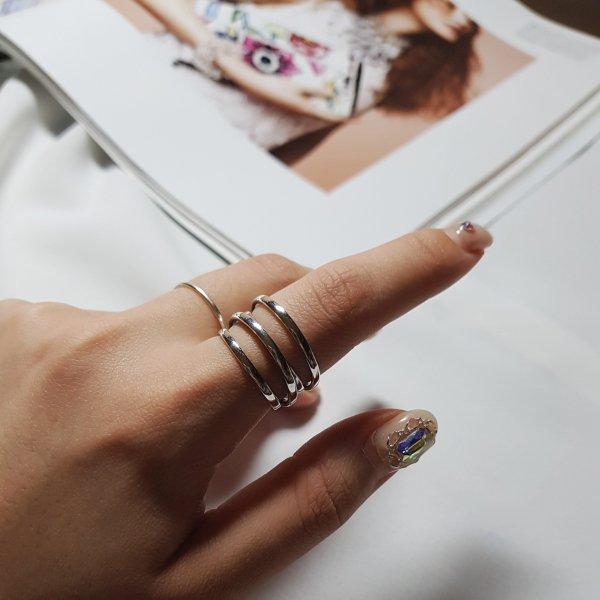 即納 リング 指輪 シルバー925 silver925 3連リング オープンリング 重ね付け 人気 韓国ファッション パーティーアクセサリー オルチャン シンプル