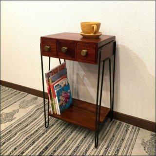 [送料無料] 木製サイドテーブル(シーシャムウッド)