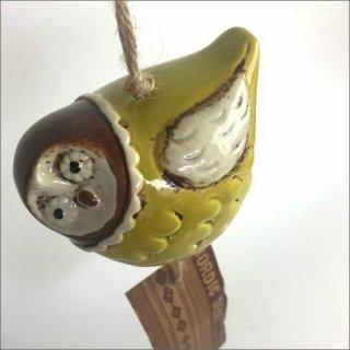 陶器製 風鈴 フクロウ