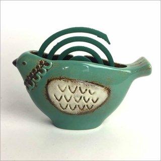 陶器製 蚊遣り トリ