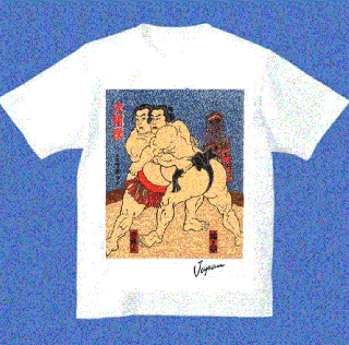 相撲・侍・日本Tシャツ