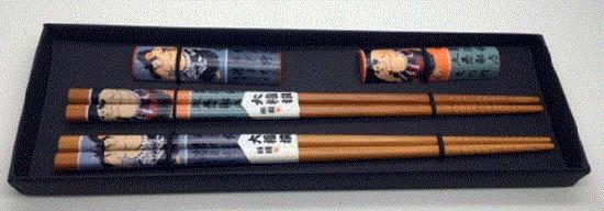竹製箸2Pセット 相撲箸置き付き