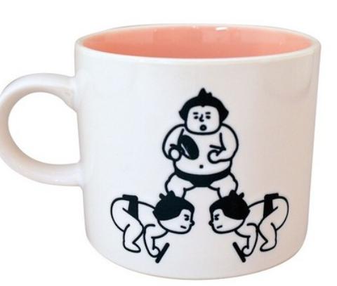 力士マグカップ(ボーリング・重量挙げ・卓球)
