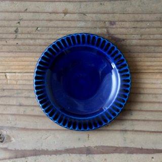新井真之 藍リム豆皿