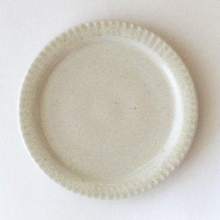 新井真之 白リム小皿
