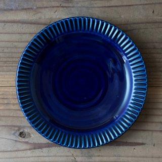 新井真之 藍リム六寸皿